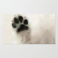 I Paw You - Dog Art By Sharon Cummings Rug by Sharon Cummings