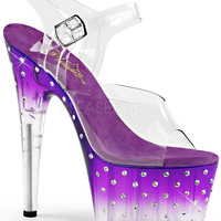 Ankle Strap Sandal-Rhinestone Platform Stripper Shoes