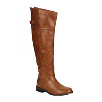 """Always My Style"" Above Knee Tan Tall Riding Boots"
