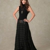 Nicholas K Check Maxi Skirt at Free People Clothing Boutique