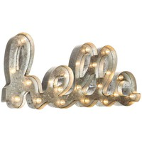 Galvanized Metal LED Marquee Hello Word | Hobby Lobby | 1142413