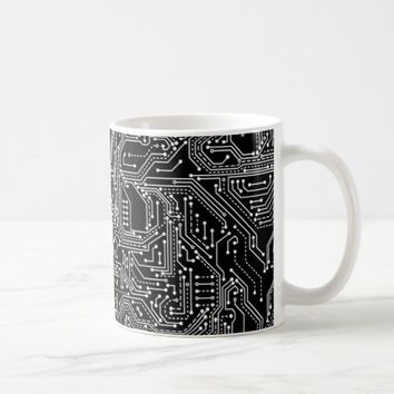 Computer Circuit Board Coffee Mug