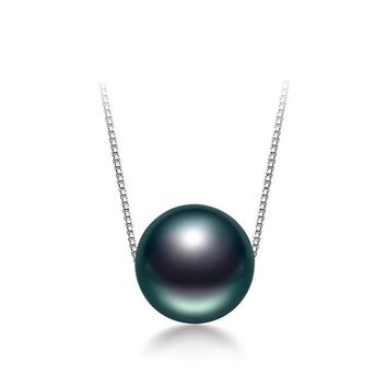 Black Tahitian Pearl Pendant (for use with necklaces)