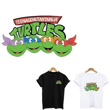 Teenage Mutant Ninja Turtles patch iron on patches stickers stripes for clothes application of one another applique toppe stripe