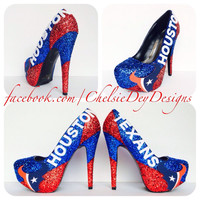 Houston Texans Glitter High Heels