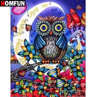 5D Diamond Painting Abstract Owl and Moon Kit
