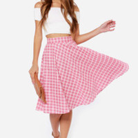 Pleasant Picnic Red Plaid Skirt