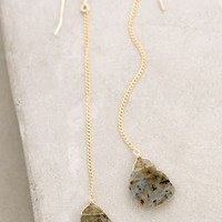 Labradorite Anchored Drops by RueBelle Gold One Size Earrings