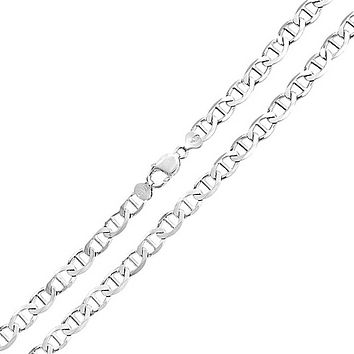 Solid Mariner Anchor Link Chain 150 Gauge Necklace Sterling Silver