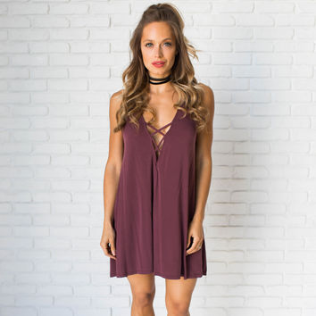 Infinite Potential Shift Dress In Plum