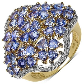 14K Gold Plated Tanzanite Sterling Ring