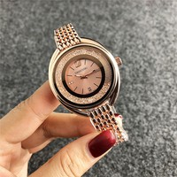 Swarovski Woman Men Fashion Quartz Movement Wristwatch Watch