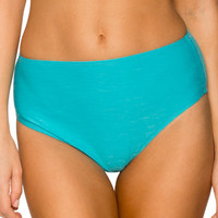 Sunsets Separates Sunkissed Turquoise - High Waist Bikini Bottom