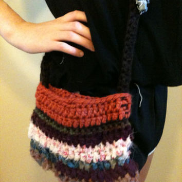 Small Crochet Purse Crochet Cross Body Purse Hippie Bag Boho Bag Hippie Purse Boho Purse Crossbody Bag