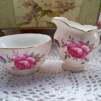 Cream and Sugar Set - Paragon of England - Roses