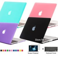 NEW Matte Crystal Case Cover For Apple Macbook Air Pro Retina 11 12 13 15 Touchbar Laptop Shell For Mac book 11.6 13.3 15.6 inch