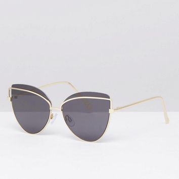 River Island tinted lensed cat eye sunglasses at asos.com