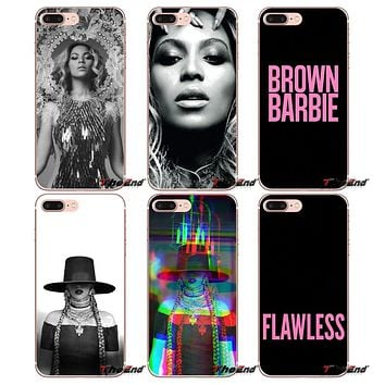 For Apple iPhone X 4 4S 5 5S SE 5C 6 6S 7 8 Plus 6Plus 7plus 8plus Fundas Coque Beyonce Flawless Soft Cell Phone Case Cover