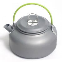 New Outdoor 0.8 L teapot anodised aluminum Portable Ultralight Hiking  Camping kettle Portable Survival Coffee Teapot PA15121608