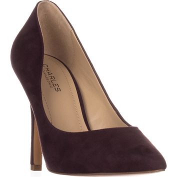 Charles by Charles David Maxx Pointed Toe Pumps, Cabernt, 10 US
