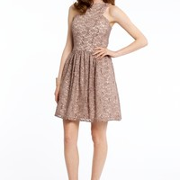 Two-Tone Sequin Lace Dress
