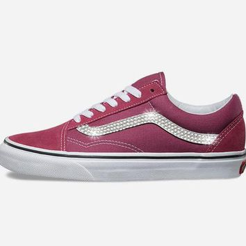Vans Old Skool + Crystals - Dry Rose
