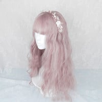 Lolita Cute Ombre Long Short Bob Curly Wavy Bangs Japanese Party Cosplay Wig