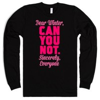Dear Winter-Unisex Black T-Shirt