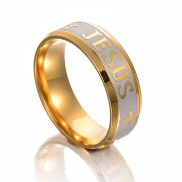 JESUS Cross Prayer Bible Letter Faith Ring for Men & Women ON SALE WITH SPECIAL SAVINGS!!!