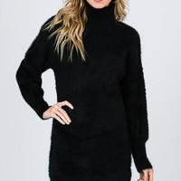 My Sweater Half Dress in Black