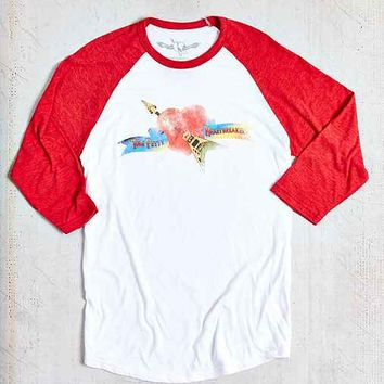 Tom Petty Raglan 3/4 Sleeve Tee- White