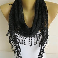 Lace scarf ,women scarves -gift Ideas For Her Women's Scarves-christmas gift- for her -Fashion accessories-scarves