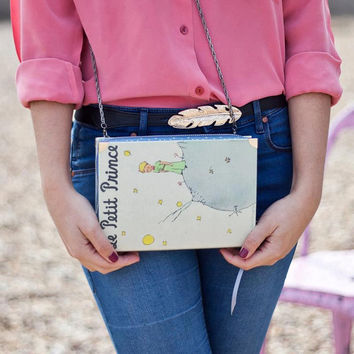 Le Petit Prince Book Clutch in Grey