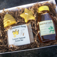 Lemon Verbena Gift Package - Soap, Honey, and Candles