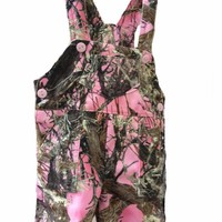 Pink Camouflage Girls Baby Overalls