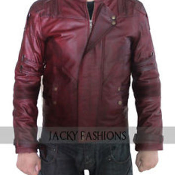 Chris Pratt Star Lord Guardians of the Galaxy 2 Jacket - Waxed- in All Sizes