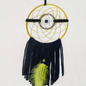 Despicable Me Minion inspired dreamcatcher-yellow dreamcatcher