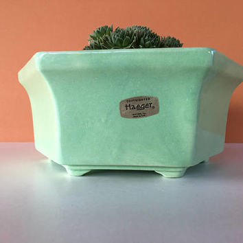 Vintage Haeger Planter, Haeger Pottery, Hexagon Planter, Vintage Planter, Art Pottery, Cactus Planter, Succulent Planter, Flower Pot, Indoor