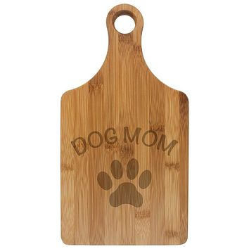 Mother's Day Dog Mom Etched Bamboo Cutting Board