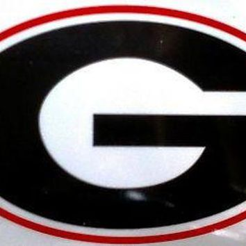 DCCKIHN Georgia Bulldogs Reusable JUMBO Cling Auto Window Static Decal University of