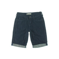 Levi's Womens Cuffed Bermuda Denim Shorts