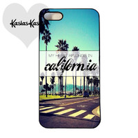 My heart belongs in California phone case