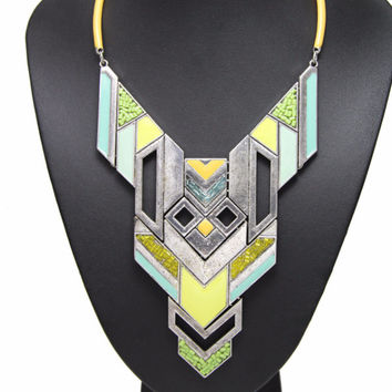 New Arrival Boho Necklace Exaggerated Avant-garde Robot Pattern