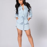 Southern Hospitality Dress - Light Denim