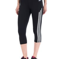 Adidas Techfit Three-Quarter 3 Stripes Leggings Tights - Womens