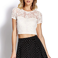 FOREVER 21 Regal Mesh Crop Top