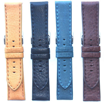 Toscana Heavy Pad Italian Calf with Matching Stitch Watch Strap