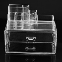 CNIM Hot Cosmetics Organizer Clear Acrylic Makeup Organizer Holder Multiple Display