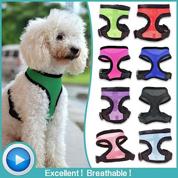 Adjustable Soft Nylon Mesh Breathable Dog & Cat Harness