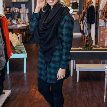 The Reba Flannel Dress